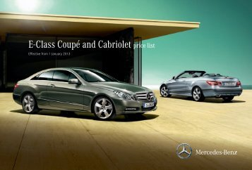 E-Class Cabriolet & Coupe Price List January 2013 - Mercedes-Benz