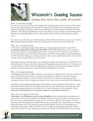 Wisconsin's Grazing Success - the Center for Dairy Profitability