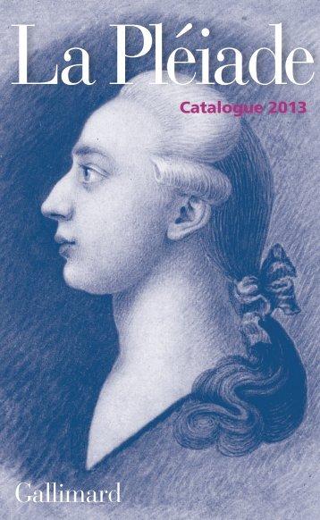Télécharger le catalogue en PDF - Gallimard