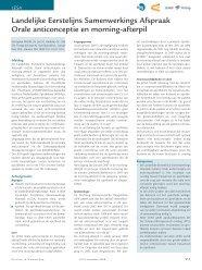 LESA Orale anticonceptie en morning-afterpil - KNMP