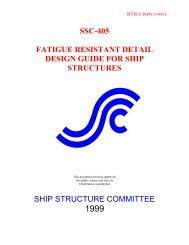 ssc-405 fatigue resistant detail design guide for ship structures ship ...