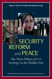 security reform peace - The Washington Institute for Near East Policy