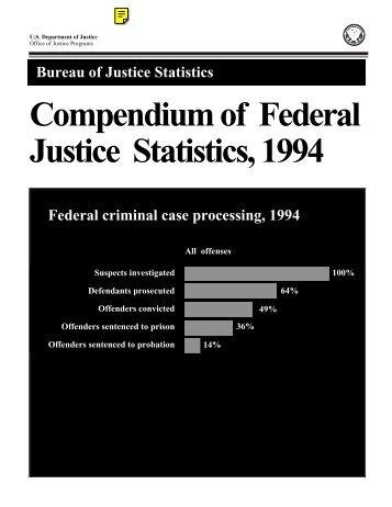 Compendium of Federal Justice Statistics, 1994 - Bureau of Justice ...