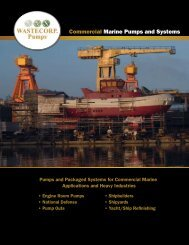 Commercial Marine Pump Brochure - Wastecorp Pumps