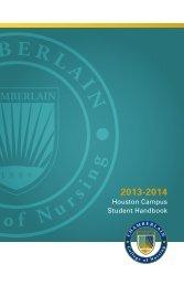 Houston Campus Student Handbook - Chamberlain