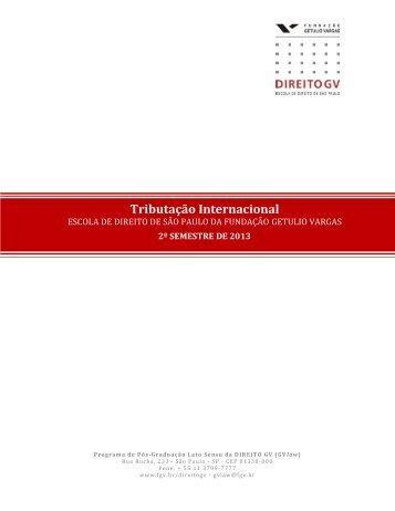 Tributação Internacional - Escola de Direito de São Paulo