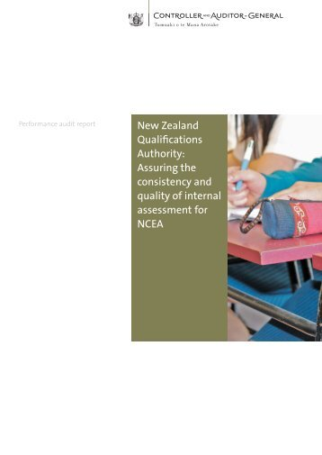 Assuring the consistency and quality of internal assessment for NCEA