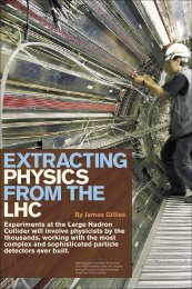 EXTRACTING PHYSICS FROM THE LHC - Symmetry magazine