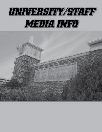 University/Staff/Media Information (Pages 133-148) - UTC Athletics