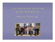 Download Jill Hough's presentation - Small Urban & Rural Transit ...