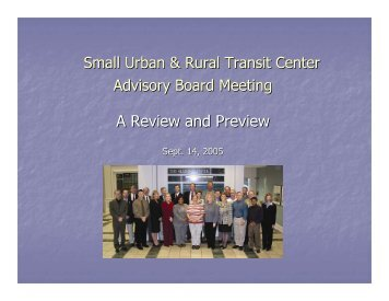 Download Jill Hough's presentation - Small Urban & Rural Transit ...