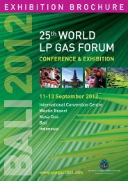 25th WORLD LP GAS FORUM - wlpgas 2012