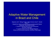 Adaptive Water Management in Brazil and Chile - Global ...