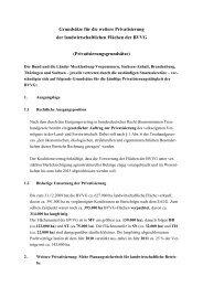 Grundsätze für die weitere Privatisierung der landwirtschaftlichen ...