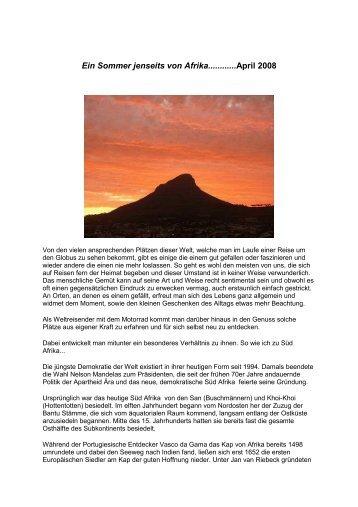 Ein Sommer jenseits von Afrika............april 2008 - Unicef
