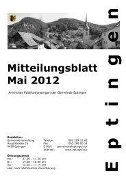 Mitteilungsblatt für den Monat Mai 2012 - Gemeinde Eptingen