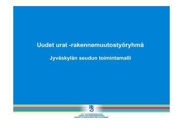Uudet urat -rakennemuutostyöryhmä, Jyväskylän seudun toimintamalli