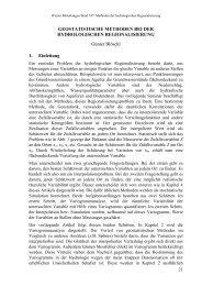 GEOSTATISTISCHE METHODEN BEI DER HYDROLOGISCHEN ...