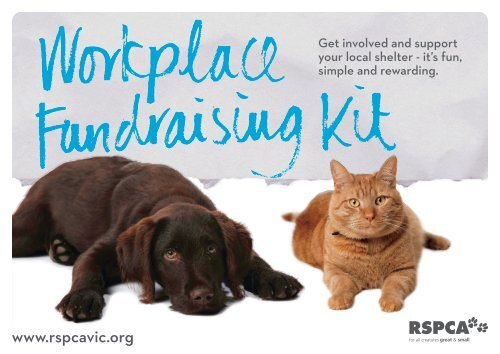 Rspca Workplace Fundraising Kit Rspca Victoria
