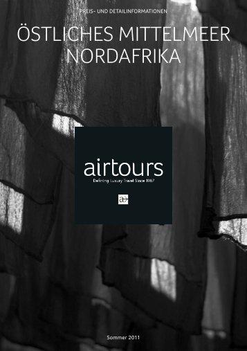 AIRTOURS - Preisteil - Sommer 2011