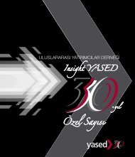 Insight YASED 30. Yıl Özel Sayısını pdf formatında görüntülemek ...