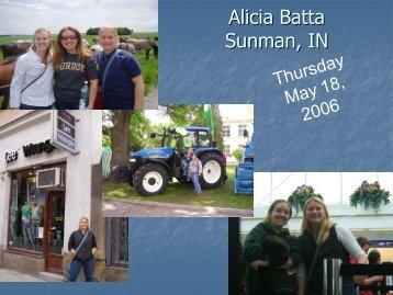 Alicia Batta Sunman, IN