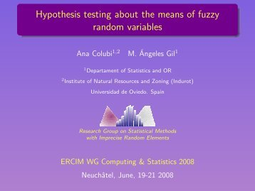 Hypothesis testing about the means of fuzzy random variables