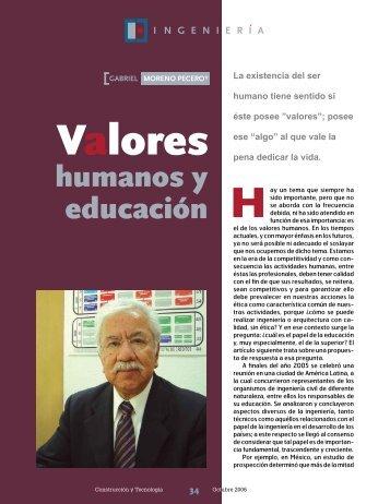 Valores humanos y educación