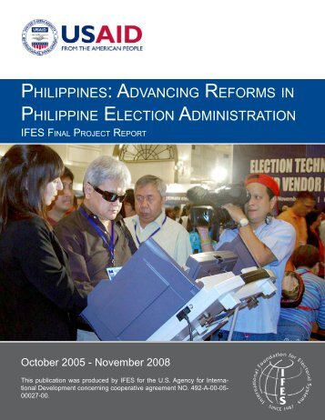 PHILIPPINES: ADVANCING REFORMS IN PHILIPPINE ... - IFES