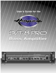 Bass Amplifier User's Guide for the - Ampeg