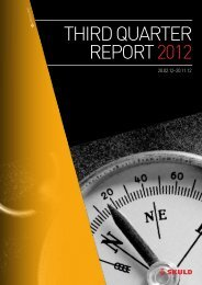 third quarter report 2012 - Skuld