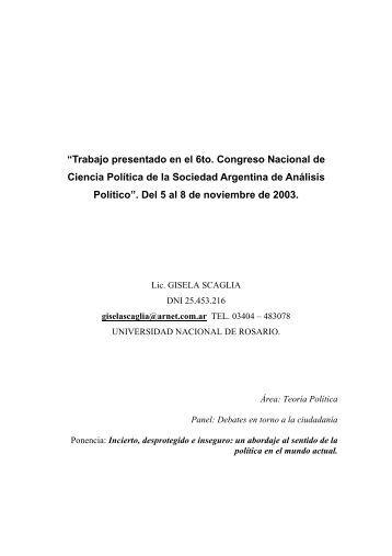 """""""Trabajo presentado en el 6to. Congreso Nacional de Ciencia ..."""