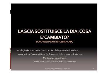 Modena 11 Luglio 2011 - Collegio dei geometri della provincia di ...