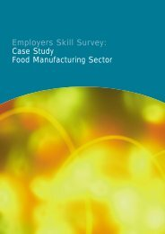Employers Skill Survey: Case Study Food Manufacturing Sector