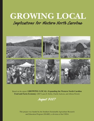 Growing Local: Implications for Western North Carolina (.pdf) - ASAP ...