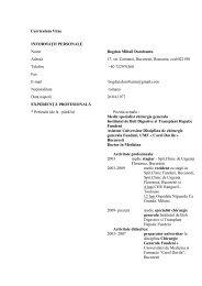 CV - Hepato-gastro-fundeni.ro