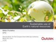 Presentation - Outotec