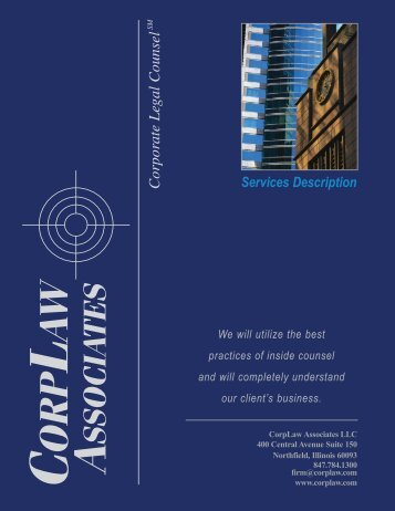 Our General Firm Legal Services Brochure - CorpLaw