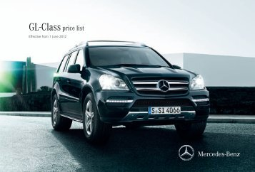 GL-Classprice list - Mercedes-Benz (UK)