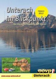 Ausgabe Ostern 2012 - (ÖVP) Unterach am Attersee