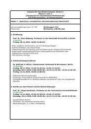 Lehrplan für das Wintersemester 2010/11 Module 1 und 2 ...