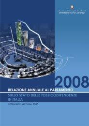 Relazione Parlamento 2008 - Dipartimento per le politiche antidroga