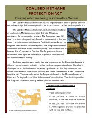 COAL BED METHANE PROTECTION ACT - Montana Association of ...