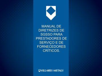 MANUAL DE DIRETRIZES DE SGSSO PARA ... - Villares Metals