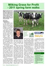 Milking Grass for Profit - 2011 spring farm walks