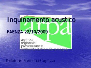Acustica ambientale - SUAP
