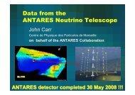 Data from the ANTARES Neutrino Telescope