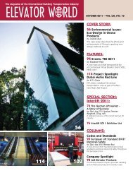 COVER STORY: SPECIAL SECTION: Interlift 2011 ... - Elevator World