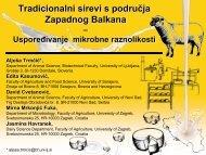 Tradicionalni sirevi s područja zapadnog Balkana