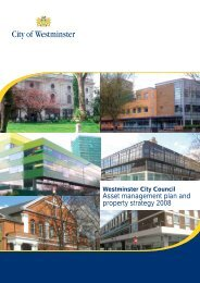 Asset management plan and property strategy 2008 - Westminster ...